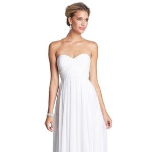 Donna Morgan Ivory 'laura' Ruched Sweetheart Silk